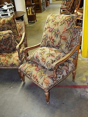 Pair of 20th C. Upholstered Armchairs #5602 7