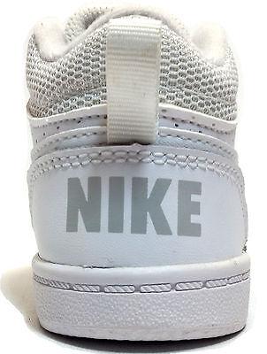 2 di 4 Nike Court Borough Mid (Td) Scarpe Bambino Ginnastica Sneaker Bianco  839981 100 a732a19c956