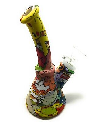 """7"""" Silicone Tobacco Water Pipe Bong W/ Glass Bowl Screen US Seller Free Shipping 3"""