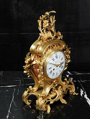Fine Ormolu Rococo Antique French Clock By Henry Lepaute C1870 Superb Condition 9