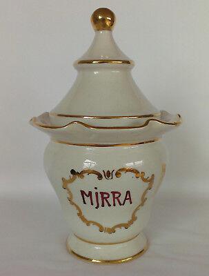 """Apotheker Gefäß """"Mjrra"""" Porzellan - schöne Form, antik, Goldauflage, apothecary 6"""