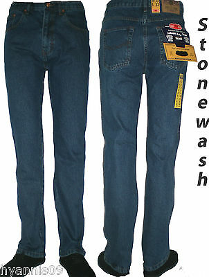 Mens Aztec jeans heavy duty work casual regular fit trousers 3