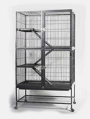 CAGE POUR LAPIN-COCHON D'INDE-FURET-CHINCHILLA-RAT ET/OU OISEAUX Réf AS2578