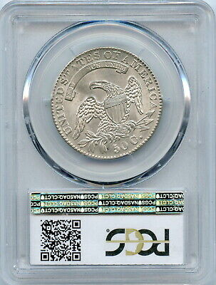 1832 PCGS MS63+ Bust Half, brilliant luster, strong detail & great eye appeal 2