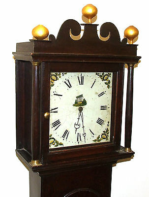 Early Petite Antique Oak Longcase Grandfather Clock 3