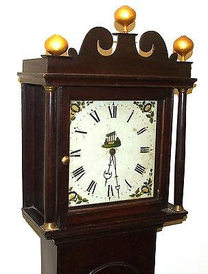 Early Petite Antique Oak Longcase Grandfather Clock 3