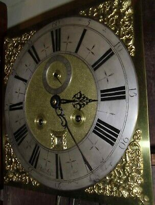 "Antique Walnut Marquetry London  ""Month Duration "" Longcase / Grandfather Clock 7"