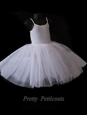 Girl Stiff Net Petticoat Slip Underskirt Crinoline Communion Flower Girl 2