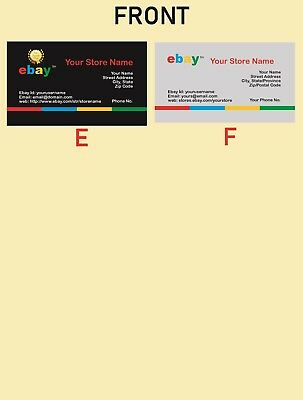 500 EBAY SELLER Personalized Business Cards-FREE SHIPPING-Glossy or Matte 3