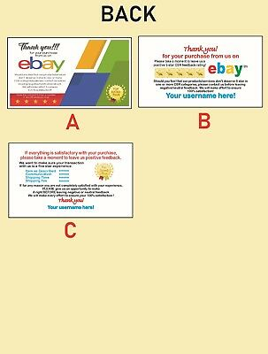 500 EBAY SELLER Personalized Business Cards-FREE SHIPPING-Glossy or Matte 4