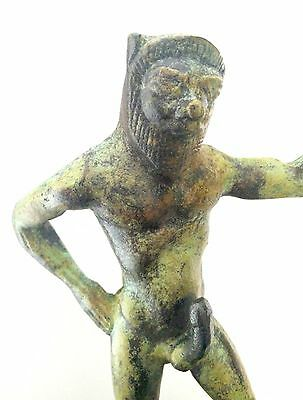 Ancient Greek Bronze Museum Mythology Statue Replica Satyrus Satyr Pan Dionysus 6