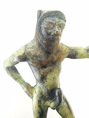 Ancient Greek Bronze Museum Mythology Statue Replica Satyrus Satyr Pan Dionysus 6