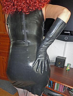 Latex Handschuhe Gr M schwarz gummi Latexhandschuhe black Gummi Fetish Domina 5