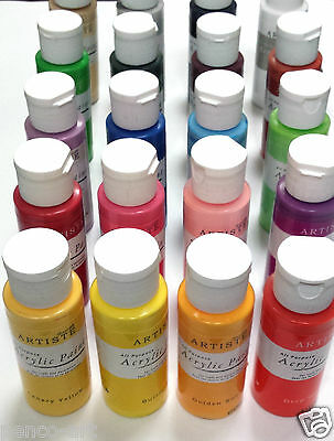 Docraft Artiste Craft Acrylic Paint in 59ml Bottles Choose From 60 Matt Colours 3