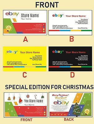 500 EBAY SELLER Personalized Business Cards-FREE SHIPPING-Glossy or Matte 2