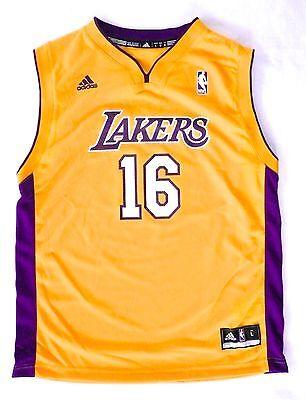 best deals on 395a6 4c52b LA LOS ANGELES Lakers #16 Pau Gasol NBA Basketball Jersey Large/L Youth  >NEW<