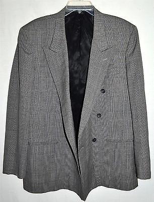 Antonio Parillo Signature Collection Gray Plaid Mens Wool Sport Coat Sz 42 R 2