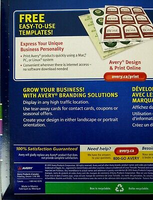 Avery Tear-Away Card Flyers - Mate White AVE16151 -  5 Flyers 120 Cards Ink-Jet 4