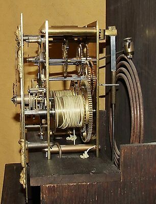 Antique 8 Day Miniature Grandfather / Grandmother Clock : Weight Driven Movement 11