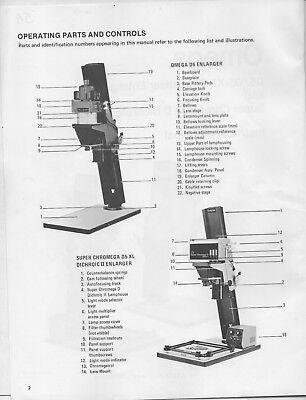 omega chromega d 5 xl enlarger instruction parts manual 12 50 rh picclick com HP Owner Manuals Service ManualsOnline