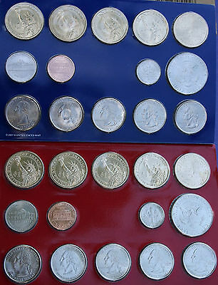 2008 P and D United States Mint ANNUAL Uncirculated Coin Set 28 BU Coins and COA 2