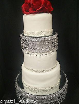 Crystal wedding cake stand & separator set -  round or square 10