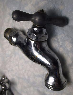 Antique Vintage Brass Faucet Spigot Spout with Threads for Hose potting shed  #1 7
