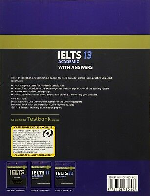 IELTS Practice Tests Cambridge IELTS 13 Academic Student's With CD 9781108553094 2