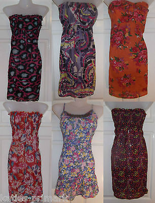 0fbd4c78ad2e ... Primark Ladies Bandeau Short Mini Dress Beach Cover Up Long Top New Uk 8  - 10