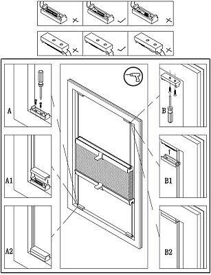 Klemmfix Plissee ohne Bohren Verdunkelung Faltrollo Jalousie verspannt #325-5 8