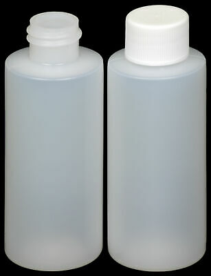 15 ml 1//2 oz Lot of 25 HDPE Plastic Bottles w//Screw-On Caps