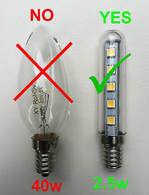 competitive price db155 f10e7 LED CHIMNEY BULB LED Cooker Hood Bulb E14 LED Bulb Chimney Lamp E14 Light  Warm