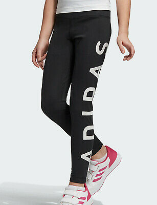 Girls Adidas Leggings black training Climalite kids age 7-8 new LAST THREE RARE 2