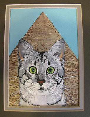 "C25     Original Acrylic Painting By Ljh     ""Javanese""       Cat Kitten 6"