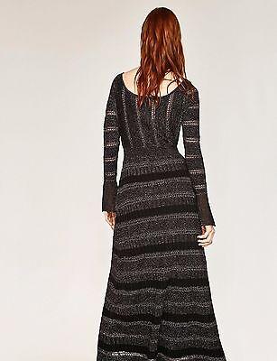 778f4303 ... Zara Premium Silver Shimmer Knitted Maxi Dress Strickkleid Maxikleid  Kleid M 38 4