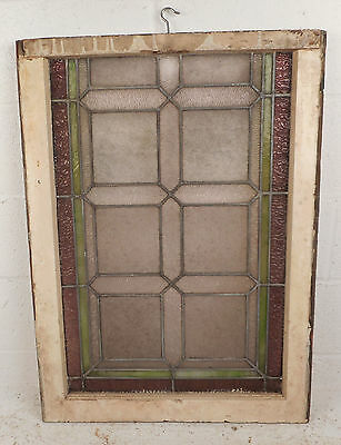 Vintage Stained Glass Window Panel (3189)NJ 3