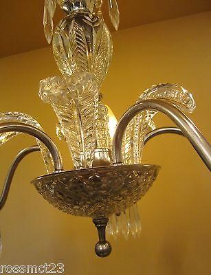 Vintage Lighting 1940s crystal chandelier 3