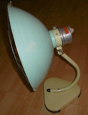 arzt tisch /wand lampe wärme alt top deko mint / gelb thermolite super 60 / 70er 5