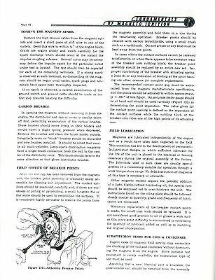 Wico AH Magneto Spark Plug Hit Miss Engine Motor International LA LB Manual Book 2