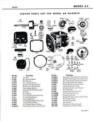 Wico AH Magneto Spark Plug Hit Miss Engine Motor International LA LB Manual Book 3