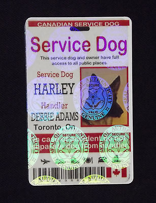 Holographic Service Dog ID Card, Canadian Service Animal ID Tag, Service Dog Tag 3