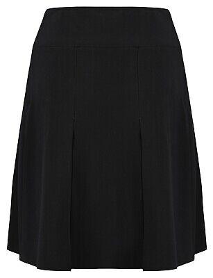 Girls Pleated School Skirt Navy Grey Black Long Short Regular Length 16 18 20 22 6