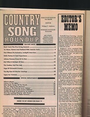 Country Song Roundup November 1969 Don Gibson Dolly Parton Waylon Jennings 2