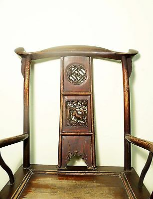 Antique Chinese High Back Arm Chairs (5701), Circa 1800-1849 6