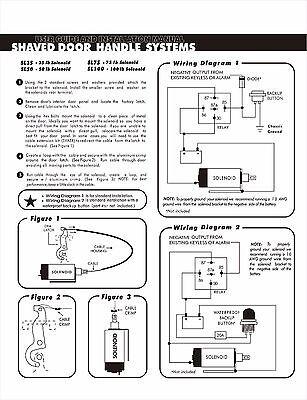 100lb 2 door shaved door handle kit popper solenoid street rat hot rh picclick com autoloc door popper wiring diagram Remote Door Popper Kit