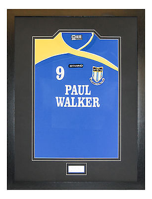 Frame For Your Signed Football/ Rugby Shirt + Free Engraved Plaque+Shirt Insert 4