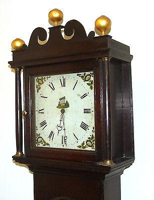 Early Petite Antique Oak Longcase Grandfather Clock 4
