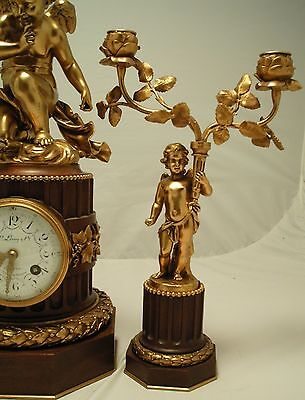 Antique French Clock Garniture. L. Leroy & Cie, Paris. Circa 1900 5