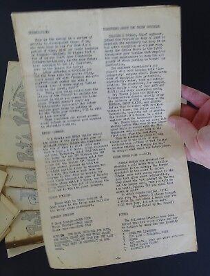 RARE 12 Magazine Newspaper Archive  Pat's Patter Korean War USAT MM Patrick 1951 10