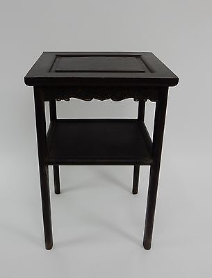 Gorgeous Antique Chinese Zitan Two tier  Wood Side Table RARE!!  28 inches 7